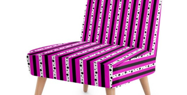 Sweet Pea Passion Stripes - Occasional Chair