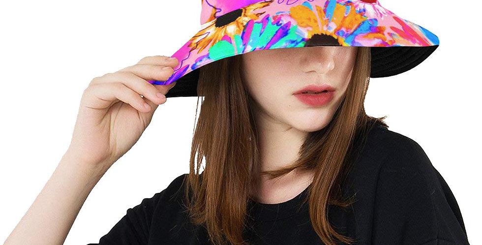 Wildflower Floral - Bright Pink - Bucket Hat