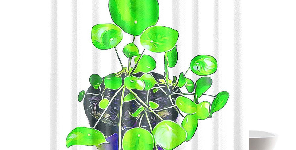 Chinese Money Plant - Shower Curtain