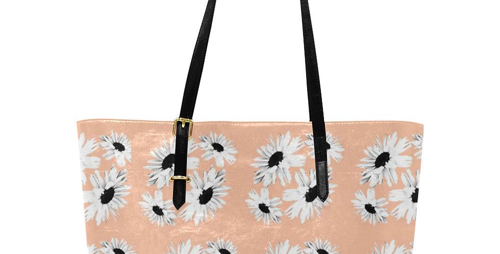 Daisy Love Peach - Large Tote Bag