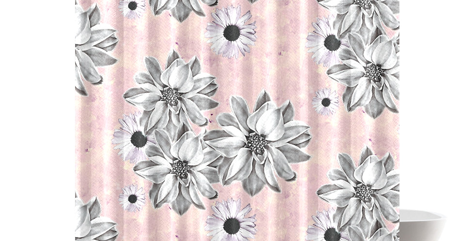 Blush Floral - Shower Curtain