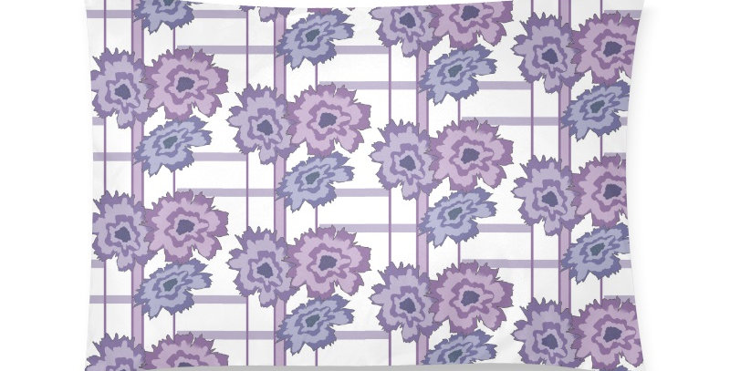 Flower Frenzy purple/mauve - Cushion Cover