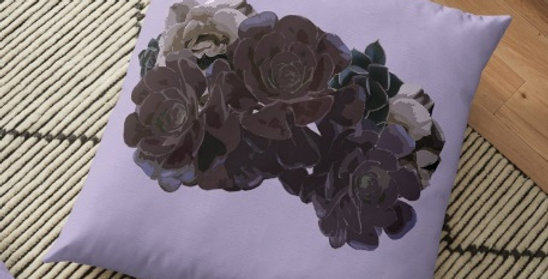 Succulent Roses - Cushion Cover