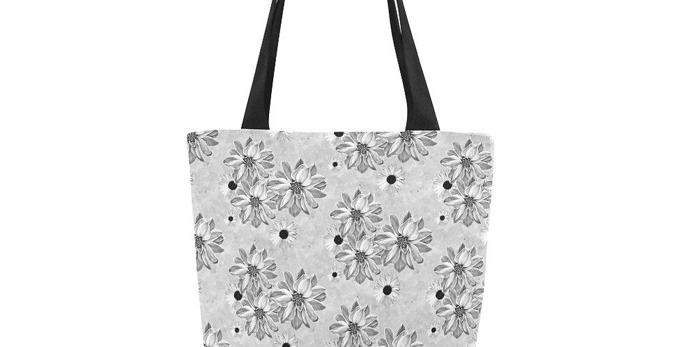 Floral Grey - Tote Bag
