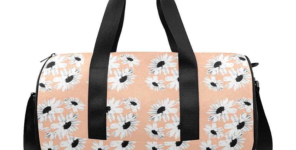 Daisy Love Peach - Gym / Workout / Camping / Travel Duffel Bag