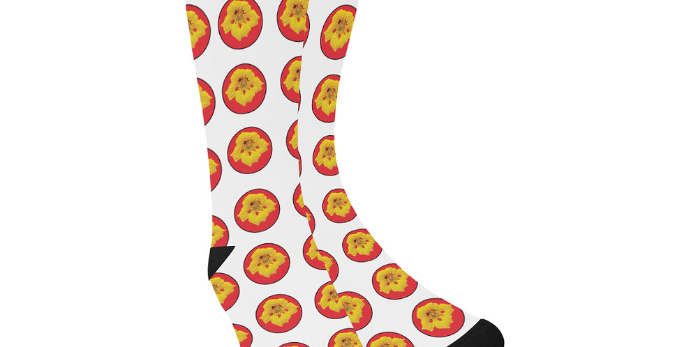 Ladybug Nasturtium Dots - Unisex Socks (Made in Australia)