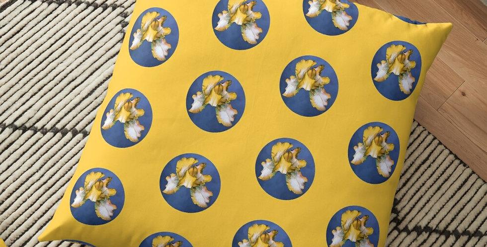 Rainbow Iris - Blue Circle (small print) - Cushion Cover