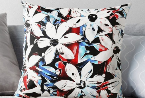 Patriotic Lily Cushion Cover
