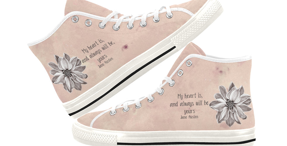 My Heart Will Always Be - Women's High Top Canvas Sneakers