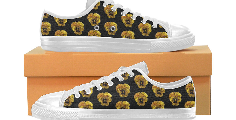 Tiger Pansy - Women's Canvas Sneakers