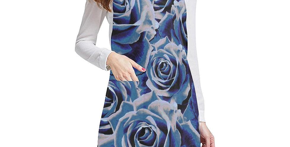 Gypsy Rose Blue Apron - Adjustable