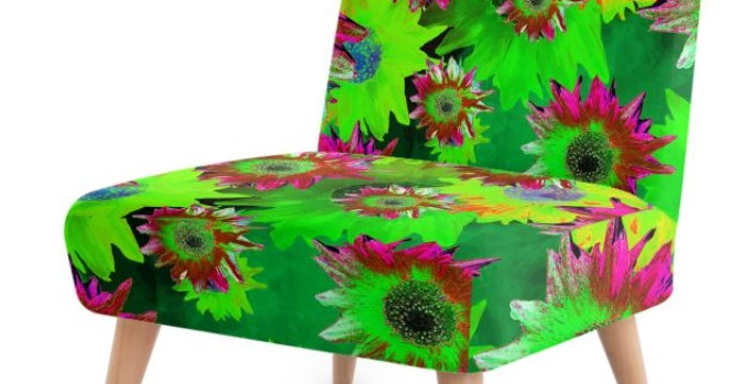 Strawflower Sizzle - Green - Occasional Chair