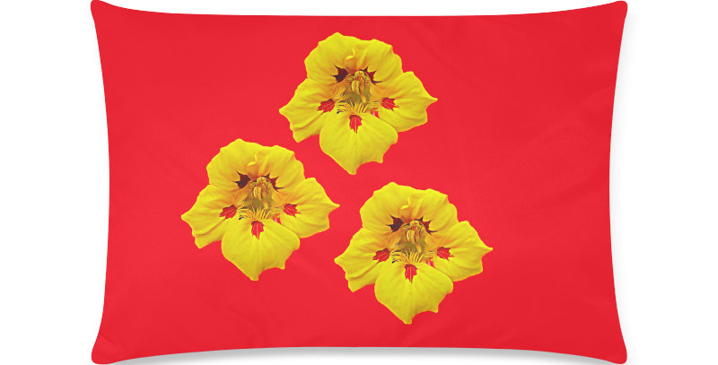 Ladybug Nasturtium - Cushion Cover