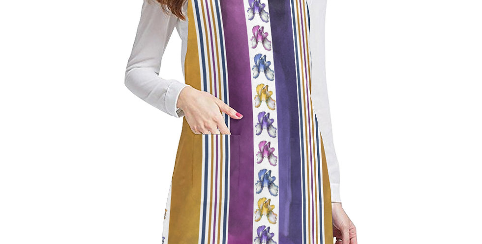 Rainbow Iris Stripes Apron - Adjustable