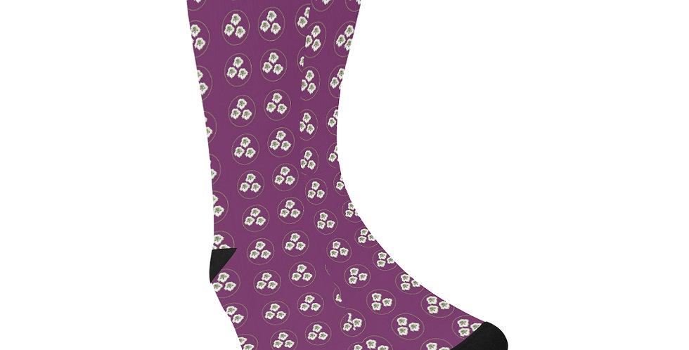 Purple Nasturtium - Unisex Socks (Made in Australia)
