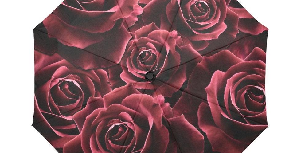 Velvet Roses Red - Botanical Umbrella