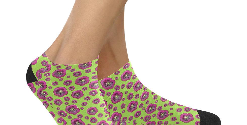 Purple Poppies - Ankle Socks