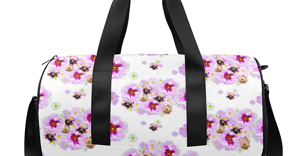 Cotton Candy Floral - Gym / Workout / Camping / Travel Duffel Bag