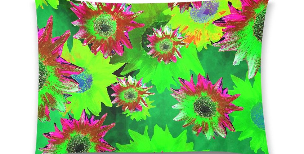 Strawflower Sizzle - Green/Pink - Cushion Cover