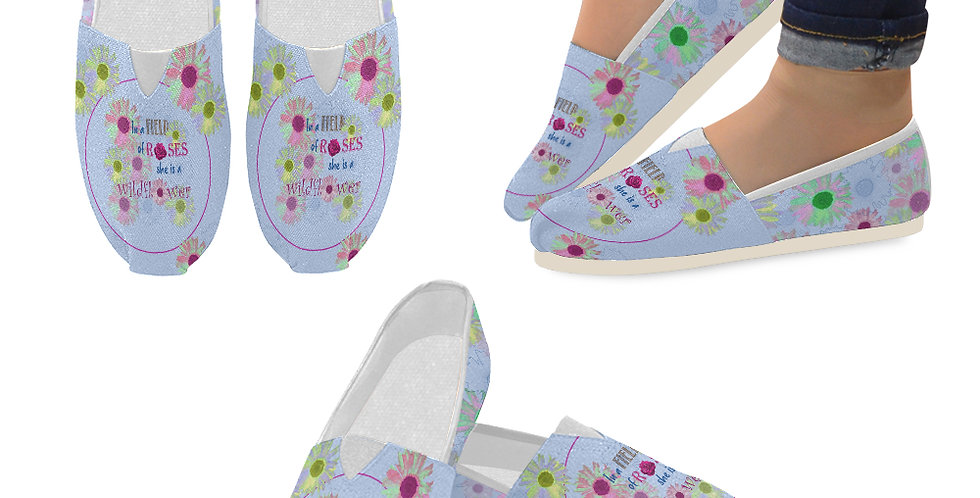 Wildflower - Slip On Canvas Shoes