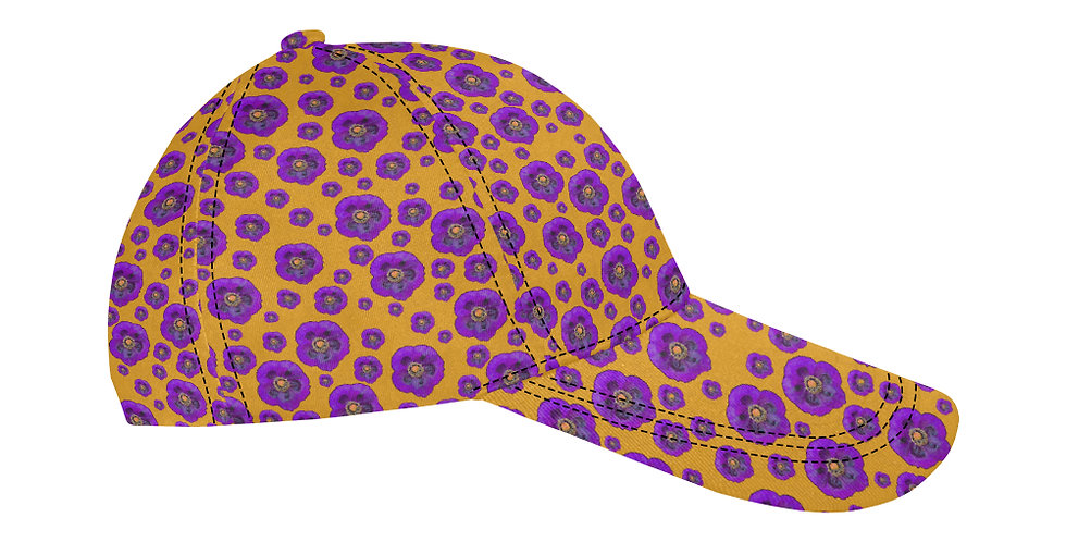 Flower Power Orange/Purple - Baseball Cap