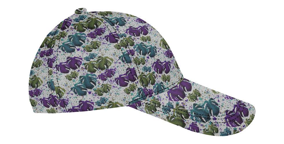 Monstera Leaves Purple & Teal - Baseball Cap
