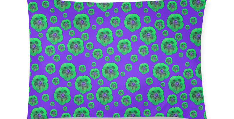 Flower Power purple/green - Cushion Cover