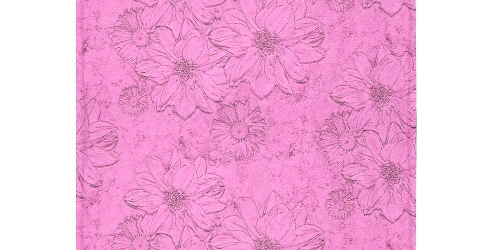 Embossed Floral - Soft Pink - Blanket