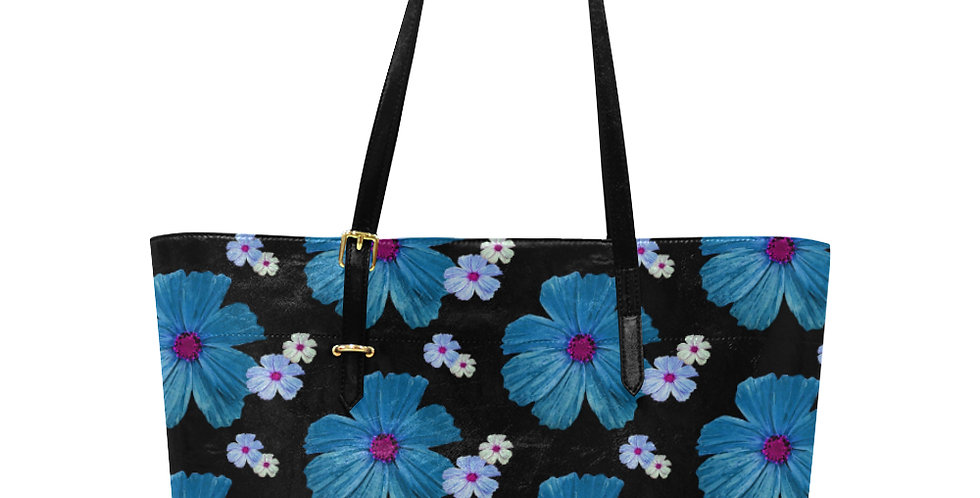 Cosmos Chaos Blue - Large Tote Bag