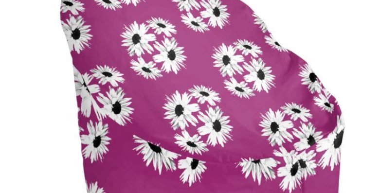 Daisy Love Pink - Bean Bag Cover