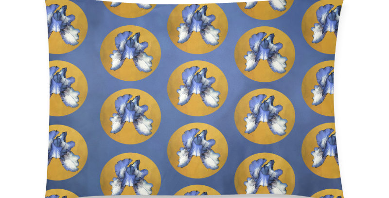 Rainbow Iris Blue Dot - Cushion Cover
