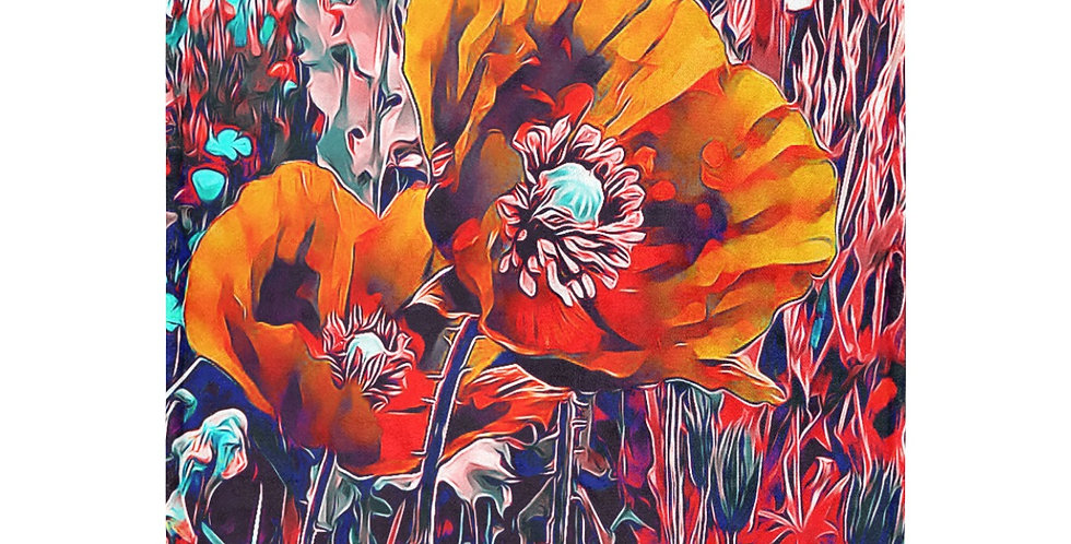 Meadow Poppies Orange - Blanket