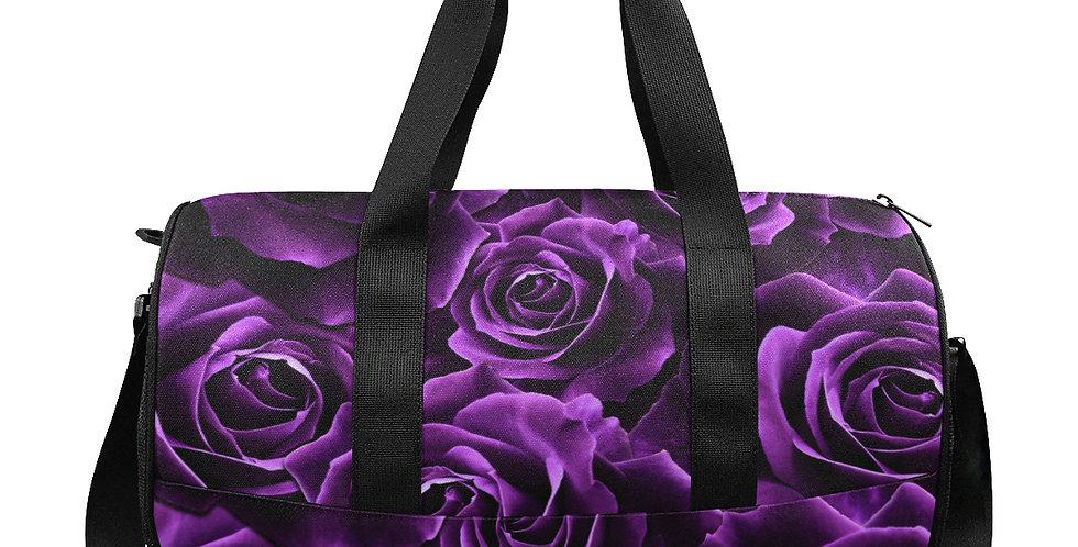 Velvet Roses Purple - Workout/Camping/Travel Duffel Bag