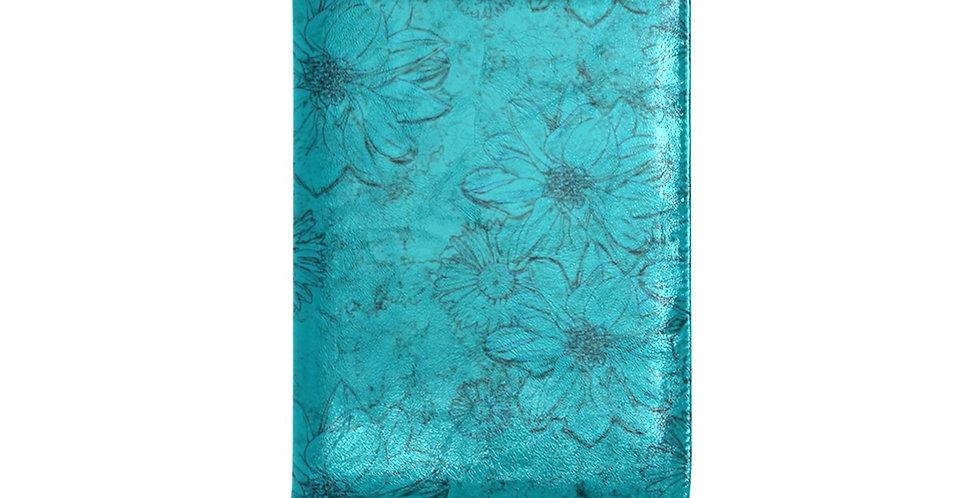 Embossed Floral Blue - Journal