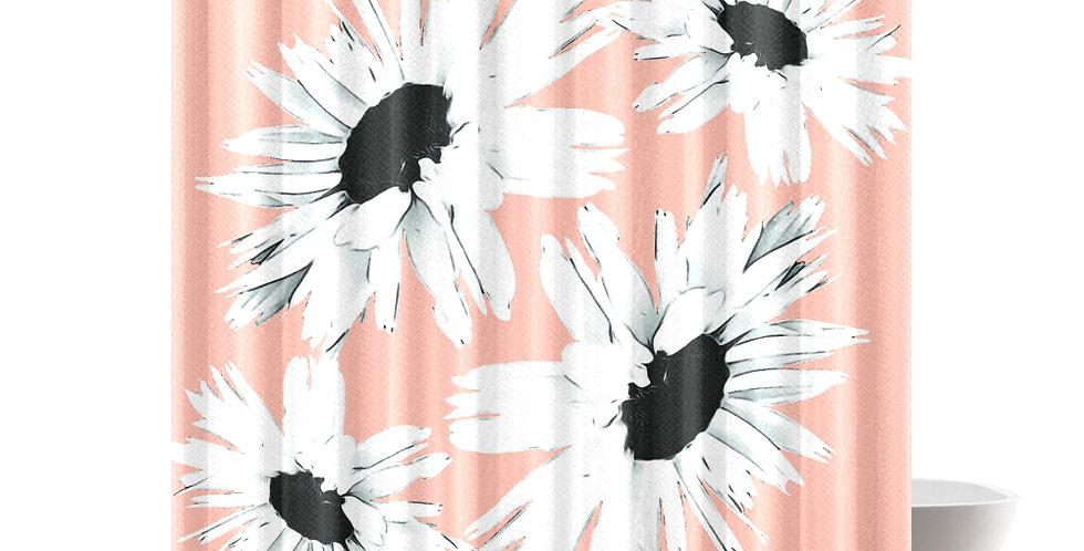 Daisy Love Peach - Shower Curtain