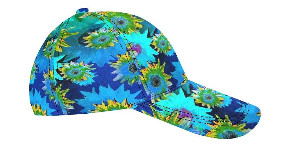 Strawflower Sizzle - Blue - Baseball Cap