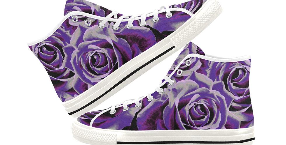 Gypsy Rose Purple Haze - Women's High Top Canvas Sneakers