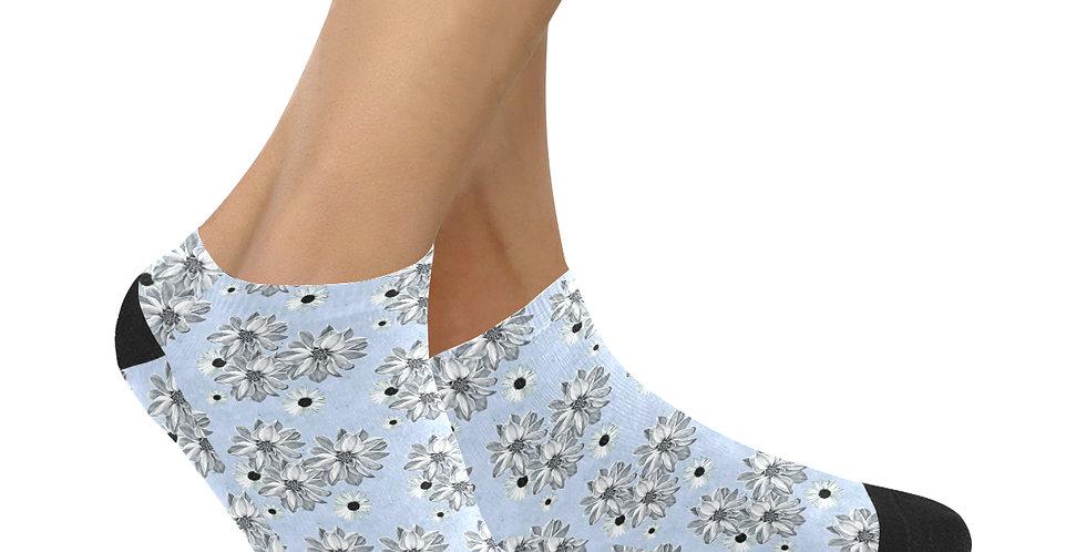Floral Blue - Ankle Socks