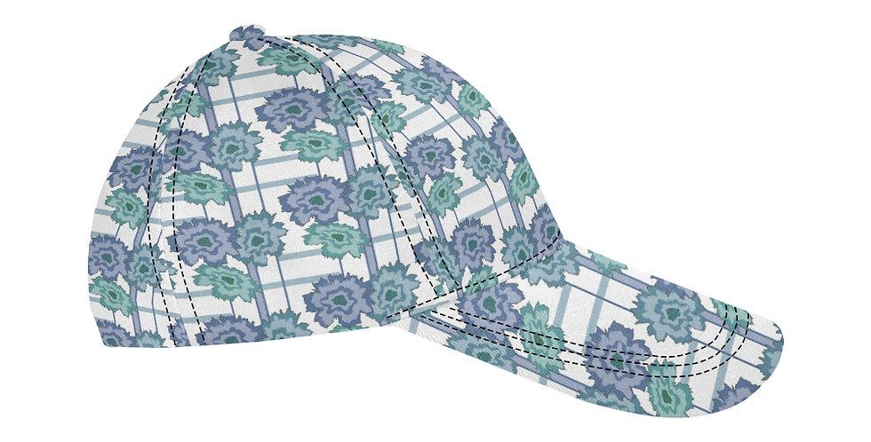 Flower Frenzy Blue/Green  - Baseball Cap