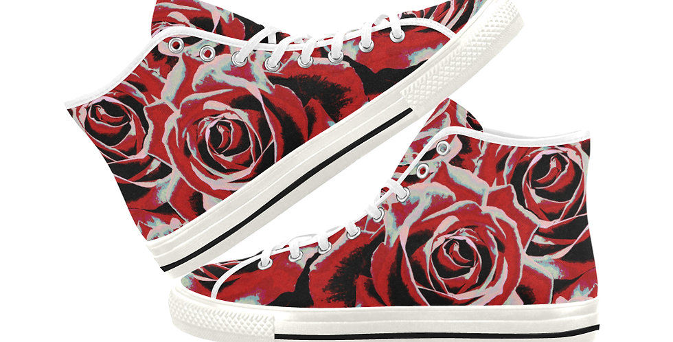 Gypsy Rose Passion - Women's High Top Canvas Sneakers