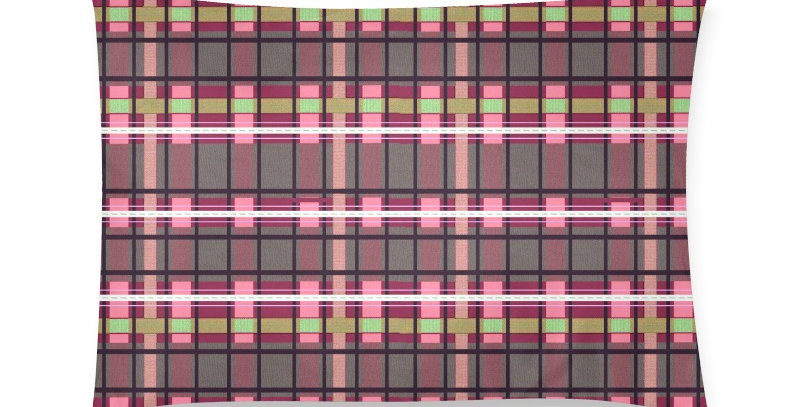 Tartan Terror Red/Pink - Cushion Cover