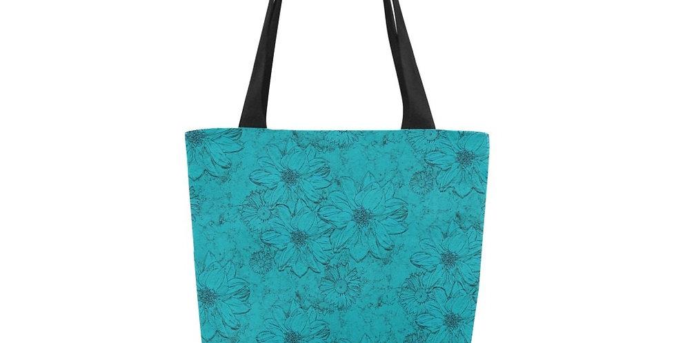 Embossed Floral Blue - Tote Bag