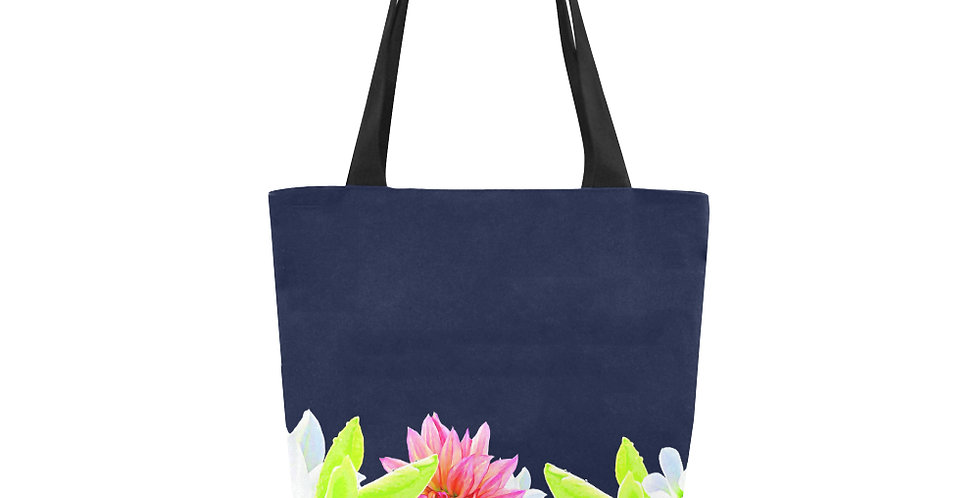 Magnolia Butterflies (boarder) - Tote Bag