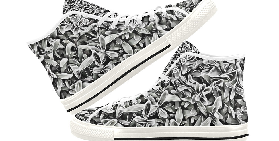 Frosted Hebe -  Women's High Top Canvas Sneakers