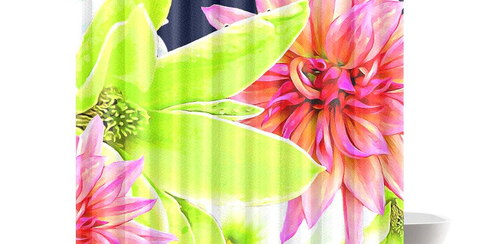 Magnolia Butterflies - Shower Curtain