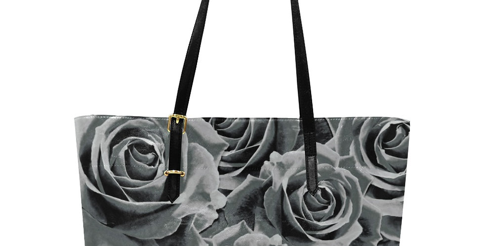 Gypsy Rose Silver Mist - Large Tote Bag