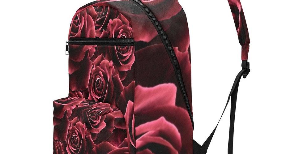 Velvet Roses Red - Travel Backpack (Large Capacity)