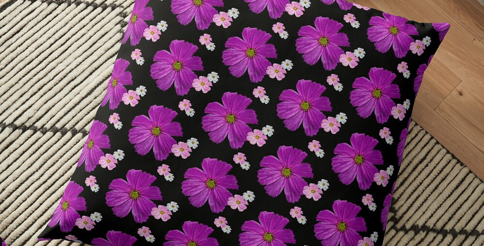 Cosmos Chaos Bright Pink - Cushion Cover