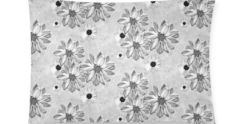 Floral Grey - Cushion Cover