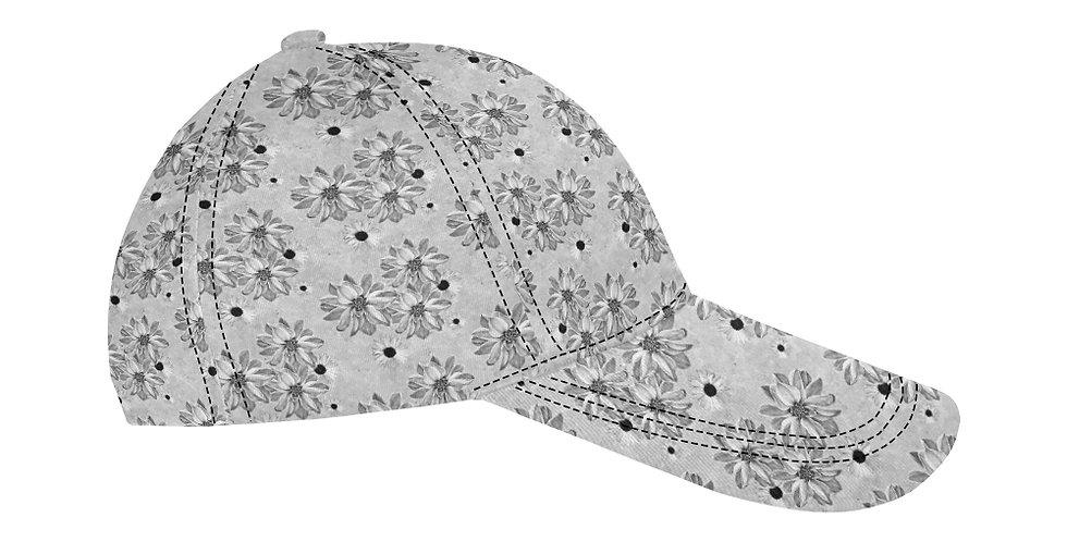 Floral Grey - Baseball Cap
